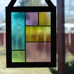 Faux Stained Glass Suncatcher