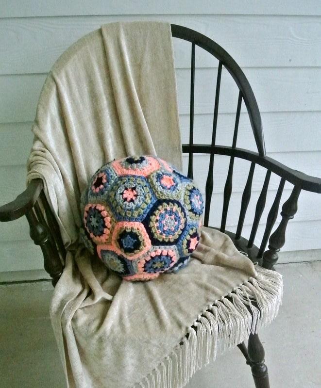 Hexagon Ball Pillow