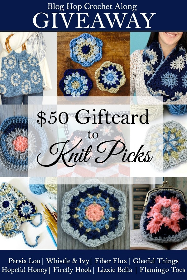 Blog Hop Crochet Along Giveaway - Enter to win a $50 gift card to Knit Picks!