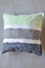 Hand-Painted Recycled Pillowcase Throw Pillow