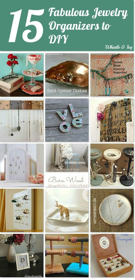 15 Fabulous Jewelry Organization Ideas - get your jewelry organized with this list of DIY organizers