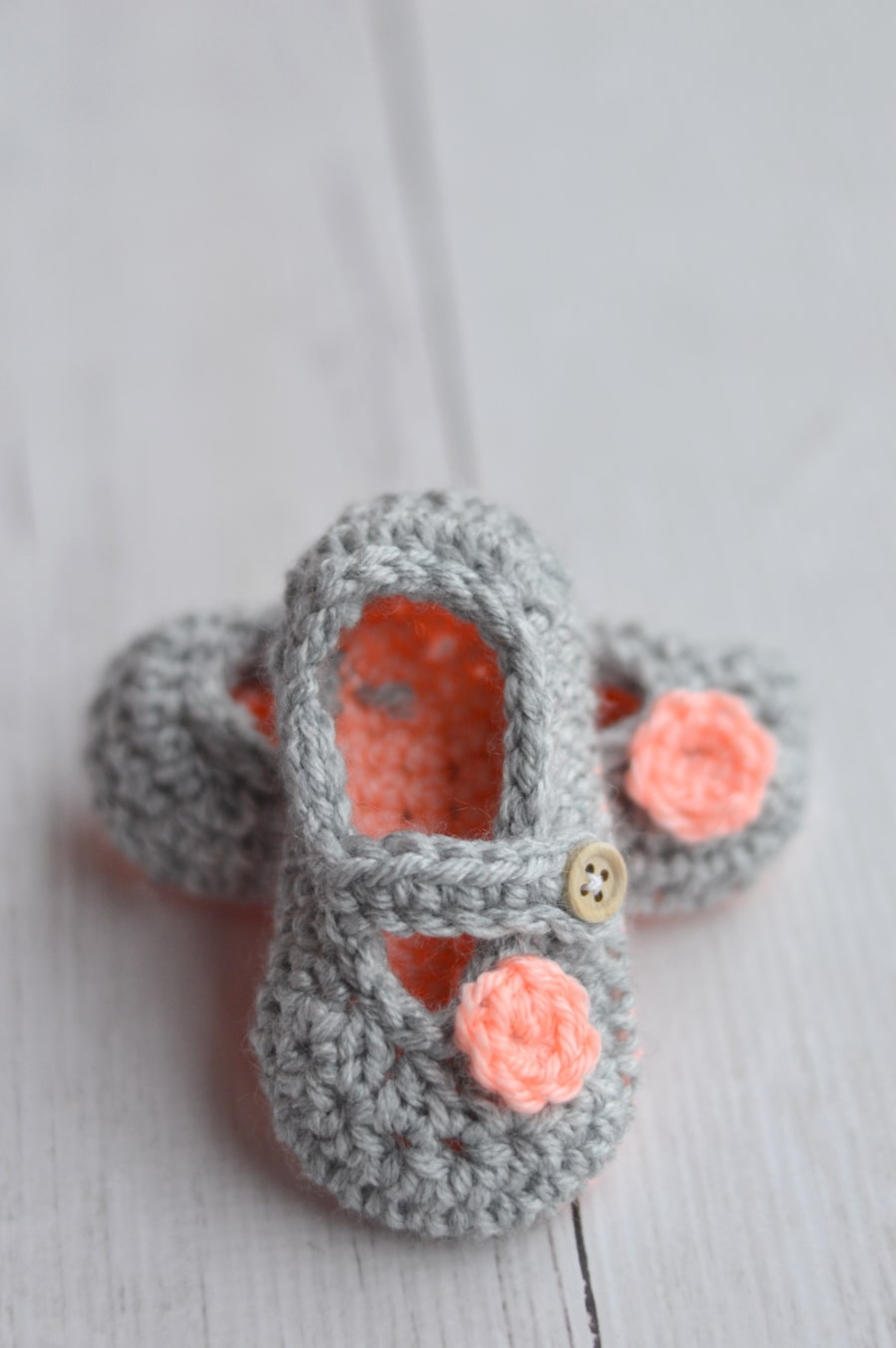 Free Crochet Patterns Mary Jane Booties : Two-Toned Little Dot Mary Janes - Page 2 of 2 - Whistle ...