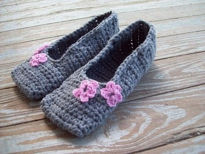 14 Free Crochet Slipper Patterns Whistle And Ivy