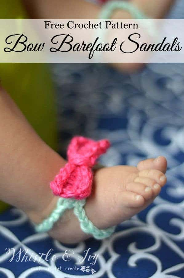 Baby Bow Barefoot Sandals Whistle And Ivy