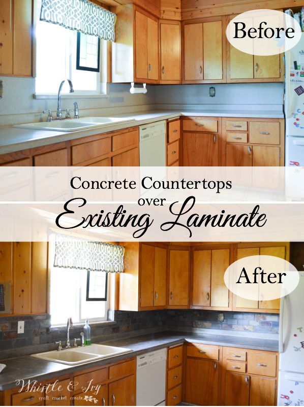 Concrete Countertops Over Existing Laminate Don T Rip Out Your Update Them