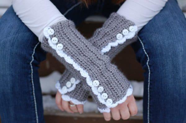 vintagestylearmwarmersfree crochetpatternSM2