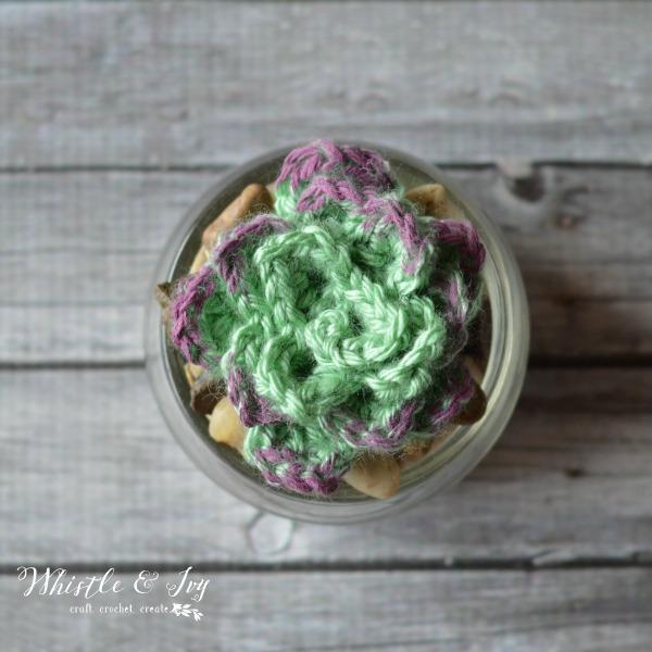 handmade crochet succulent free crochet pattern
