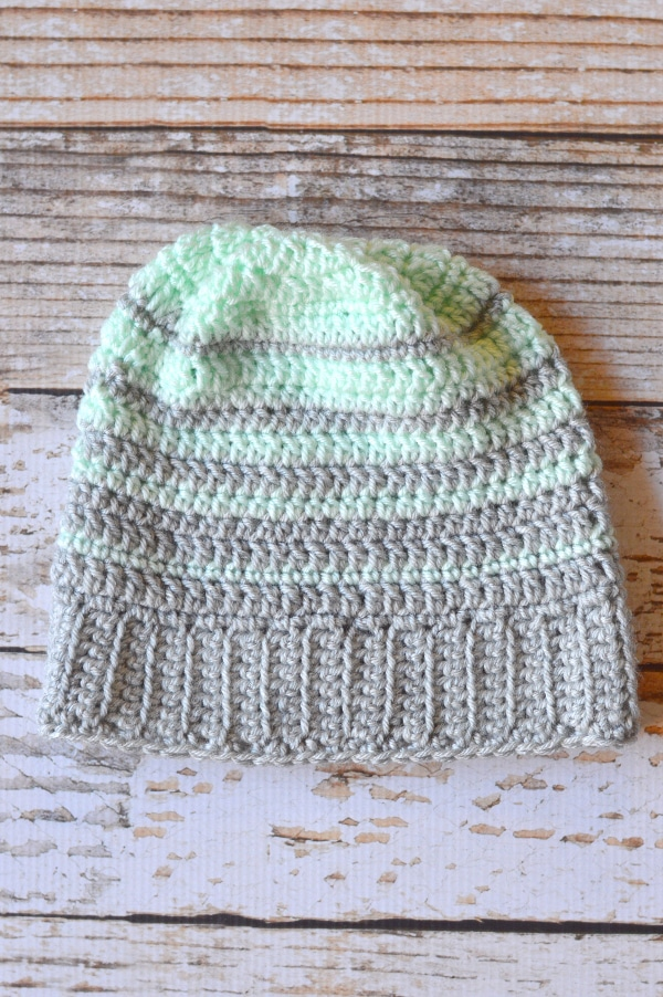 Striped Hipster Slouchy Beanie - Whistle and Ivy