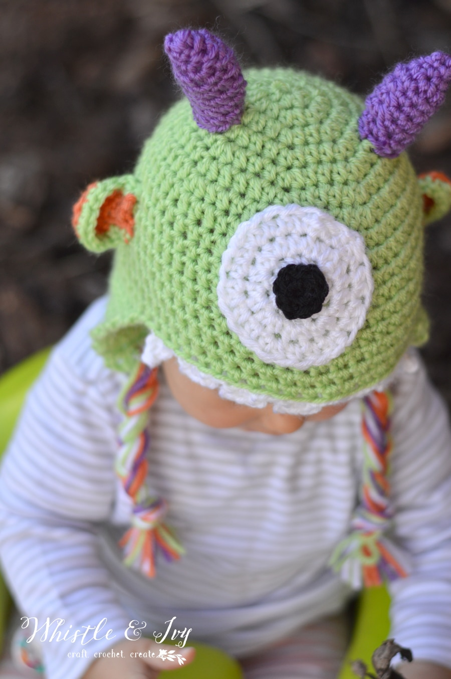 46944821342 Littlest Monster Crochet Baby Hat - Whistle and Ivy
