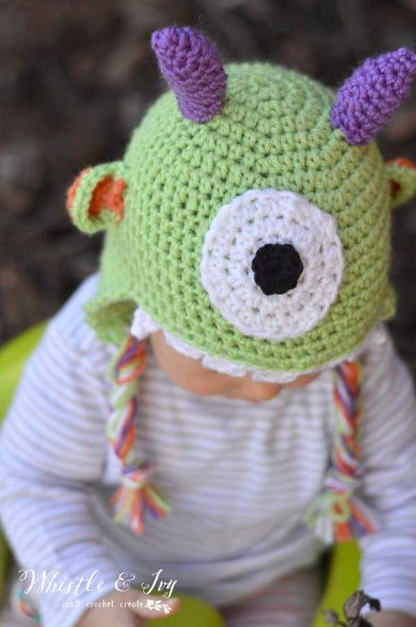 Littlest Monster Crochet Baby Hat Whistle And Ivy