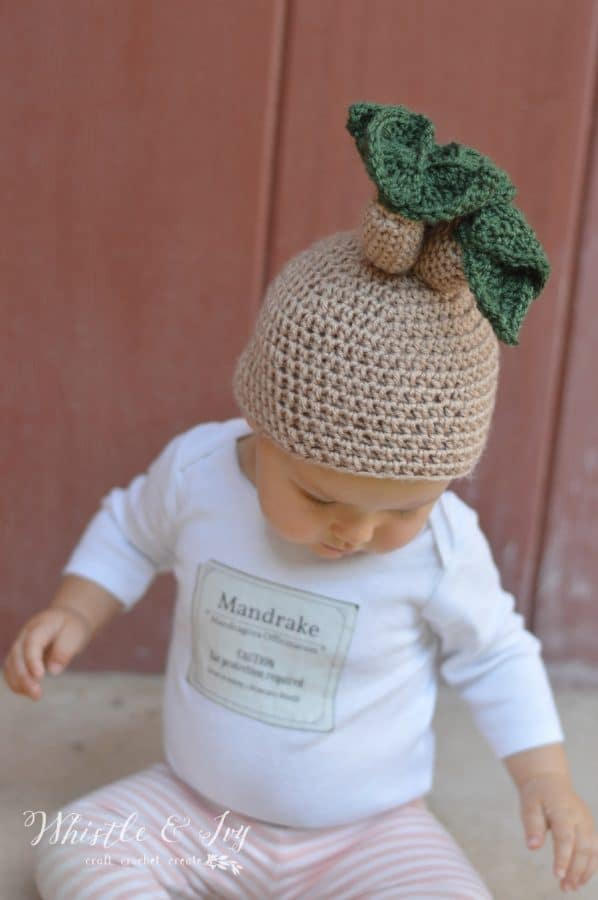 Crochet Mandrake Baby Hat - Get the free pattern for this fun Harry  Potter-themed b895250007b