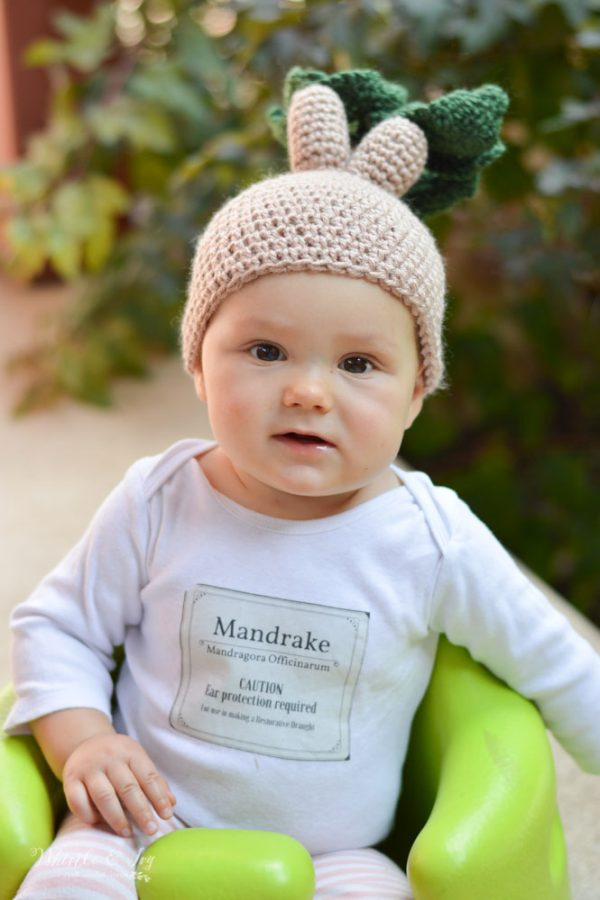 free crochet pattern mandrake hat for baby