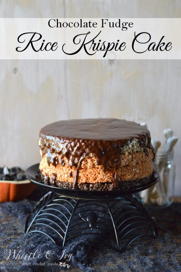 Rice Krispie Cake - Make a delicious, classic treat more festive with this four-layer Rice Krispie Cake.