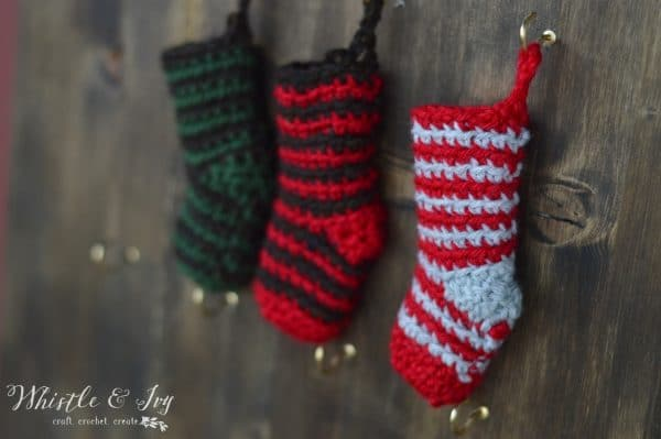 Crochet Stocking Advent Calendar Cal Day 1 Whistle And Ivy