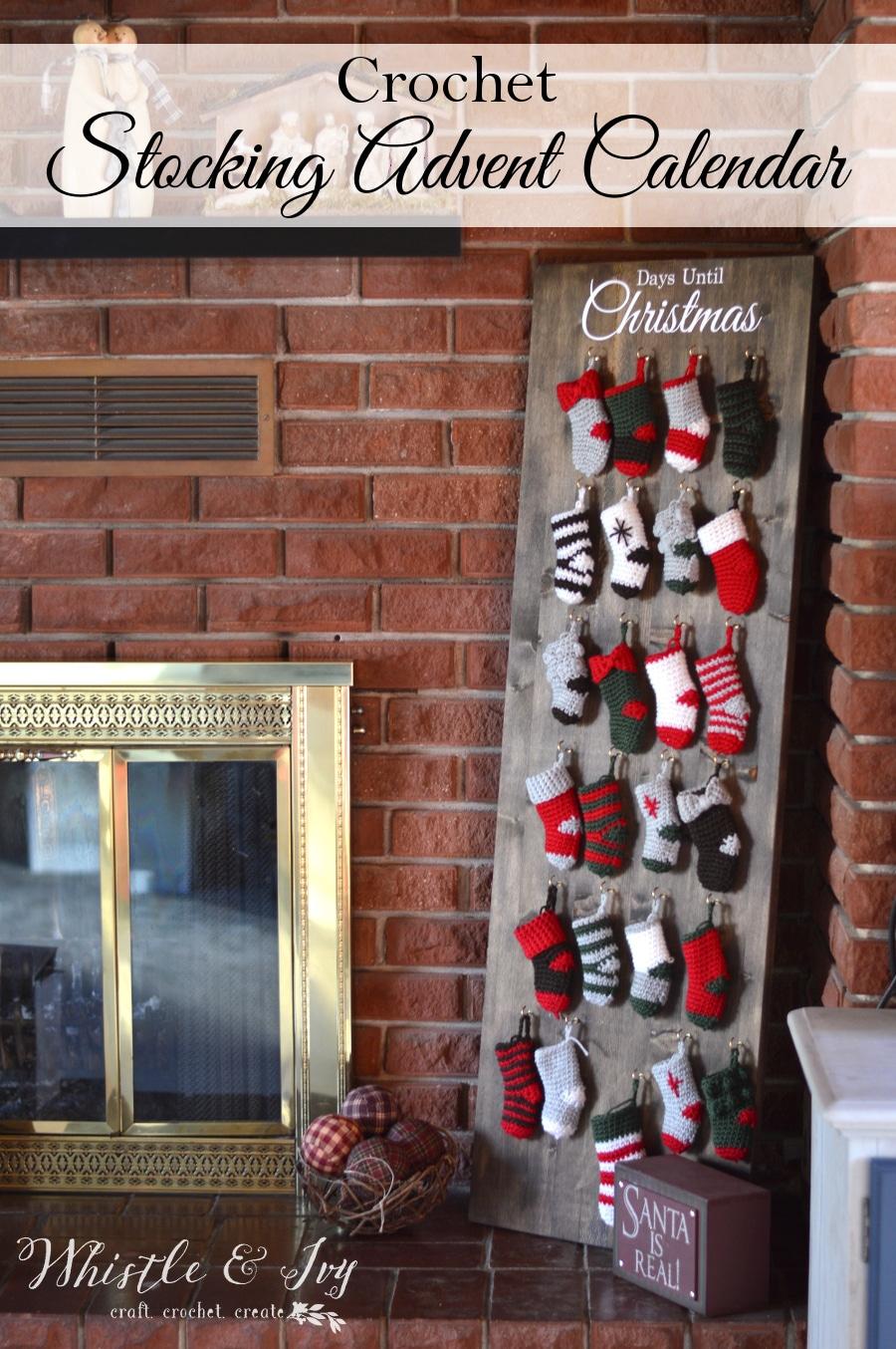 Crochet Stocking Advent Calendar Crochet Along Whistle