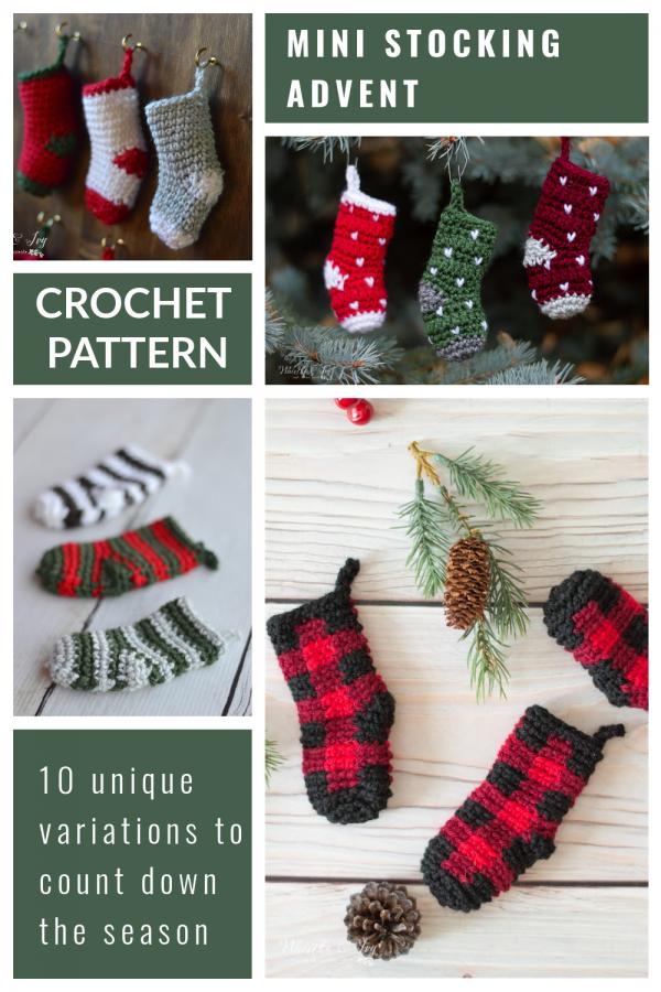 cute mini crochet stockings crochet pattern