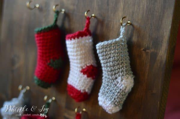 cute crochet mini stocking