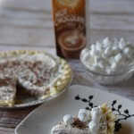 Hot Chocolate Pudding Pie with Marshmallow Whipped Cream