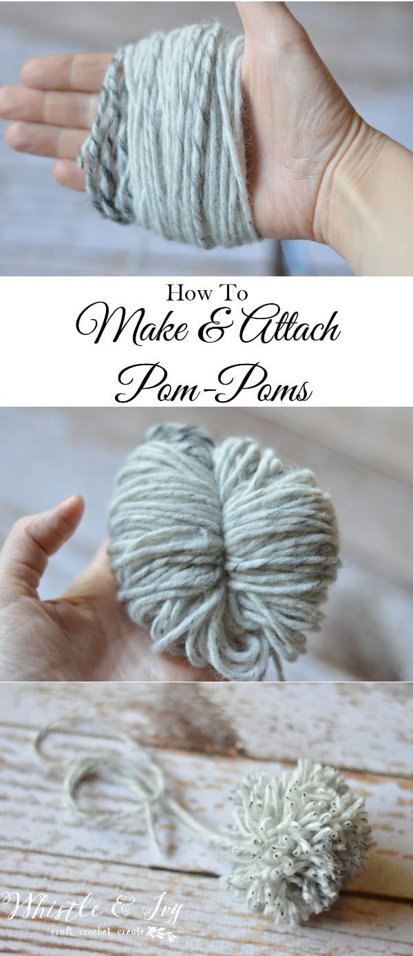 how to make and attach a yarn pom pom 4 ways to make pom poms