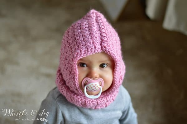 Crochet Baby Hooded Cowl Free Crochet Pattern Whistle And Ivy