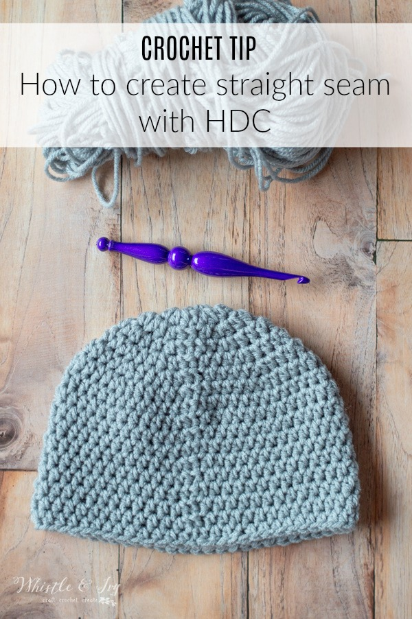 How To Crochet A Straight Seam With Hdc Stitches Whistle And Ivy