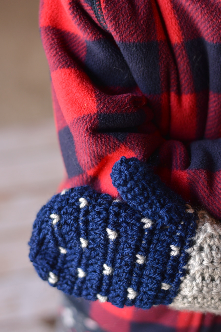 Snowfall Crochet Mittens - Whistle and Ivy