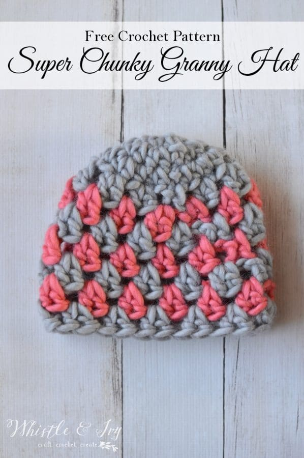 Crochet this beautiful and chunky crochet granny hat, it works up so quickly and is so fun to make.