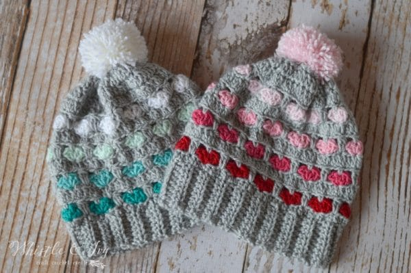crochet heart stitch hat free crochet pattern slouchy hat