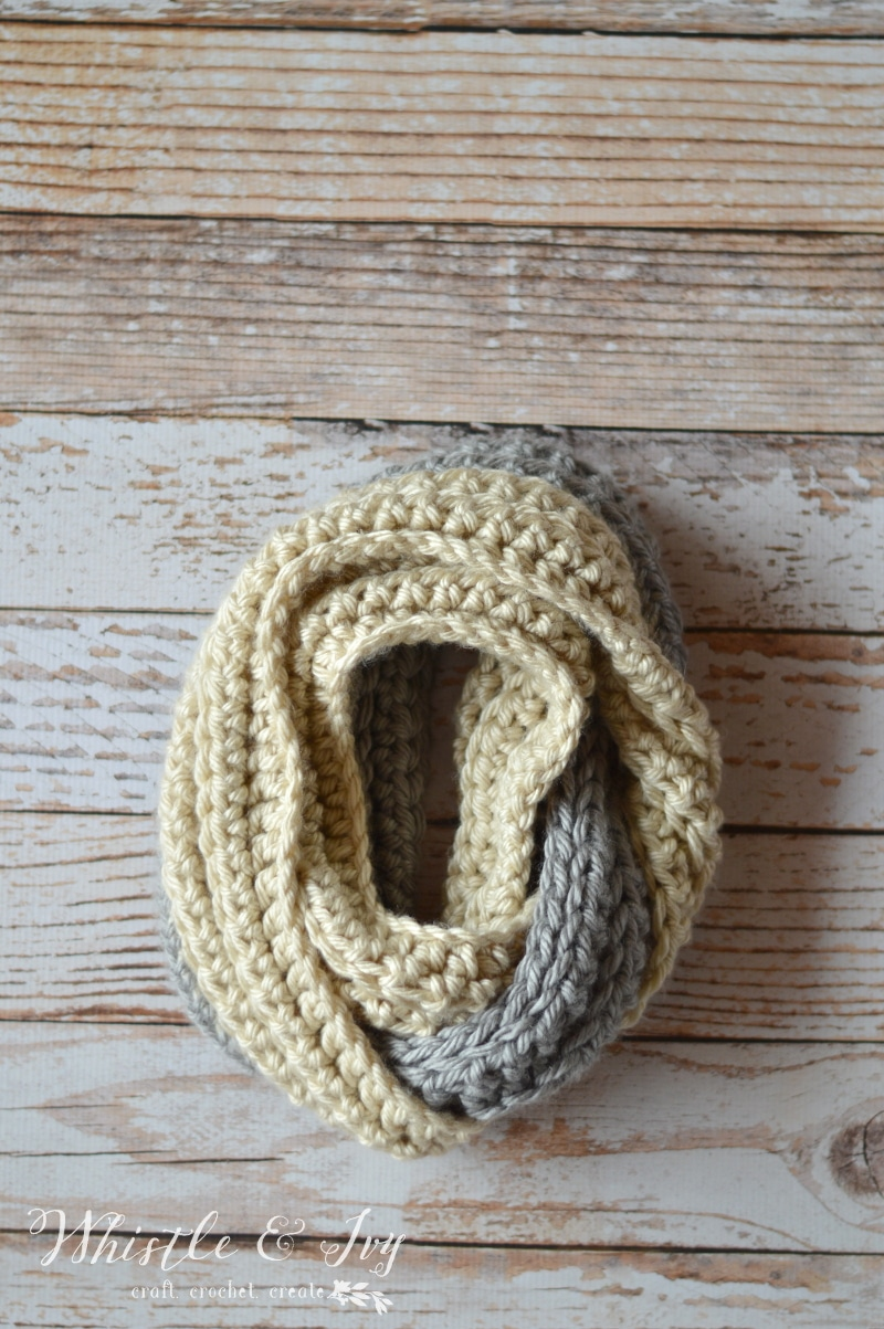 Chunky Ribbed Infinity Scarf Whistle And Ivy