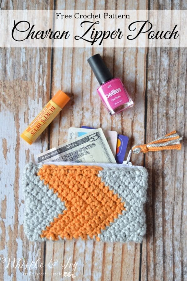 Chevron Zipper Pouch Whistle And Ivy