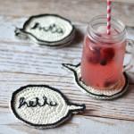 Crochet Speech Bubble Coasters