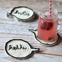 Crochet Speech Bubble Coasters