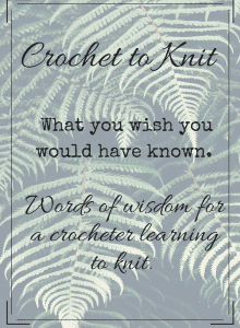 Crochet to Knit