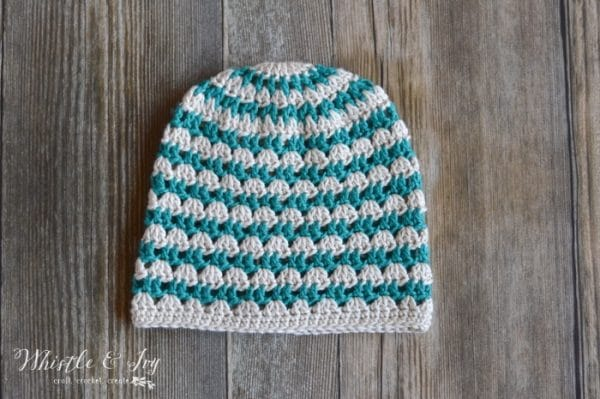 Free Crochet Pattern - Summer Festival Slouchy Hat | Boho summer-style slouchy hat works up quickly, with pretty (and easy) color color work.