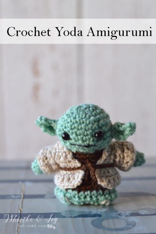 Crochet Yoda Amigurumi - Whistle and Ivy