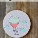 Hot Air Balloon Hoop Art