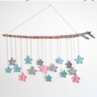 Twinkling Stars Crochet Wall Hanging