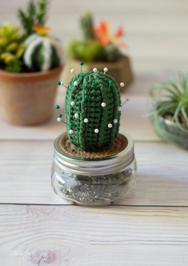 cute crochet cactus pincushion easy crochet pattern