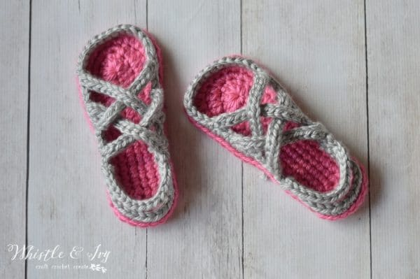 Free Crochet Pattern: Crochet Women's Gladiator Sandals | Perfect for lounging comfortably or enjoying the evening weather on your deck.