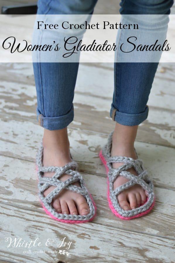475d5d7ea0d Free Crochet Pattern  Crochet Women s Gladiator Sandals