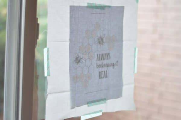 Free Embroidery Pattern: Always Beekeeping it Real | Make this beautiful and simple embroidery piece for the busy bee in your life!