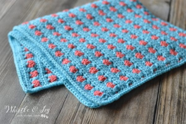 Puppy Love Heart Crochet Baby Blanket Free Crochet Pattern