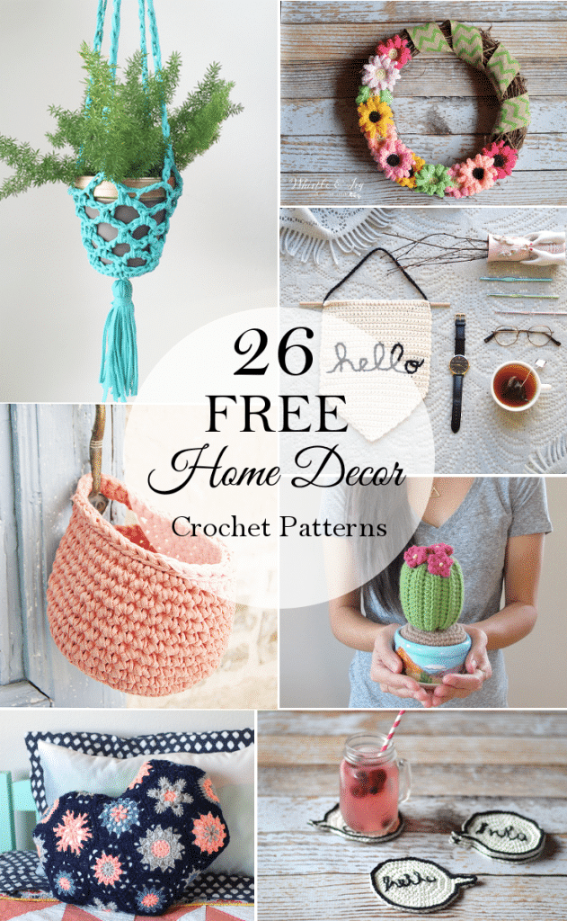26 Free Crochet Decor Patterns - Whistle and Ivy