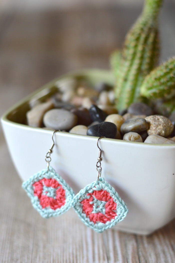 Crochet Granny Square Earrings