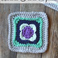 Aurora Flora Crochet Square