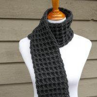 Waffle Stitch Scarf Crochet Pattern