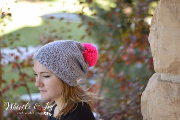 395f5417250 Autumn Frost Slouchy Hat Crochet Pattern - Whistle and Ivy