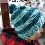 Schoolyard Pom-pom Hat Crochet Pattern
