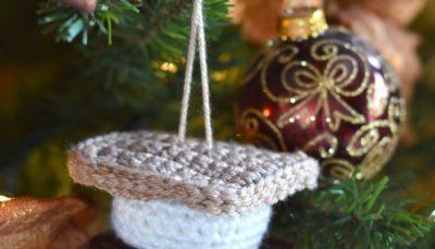 Crochet S'more Ornament