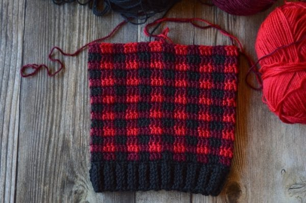 how to crochet buffalo plaid